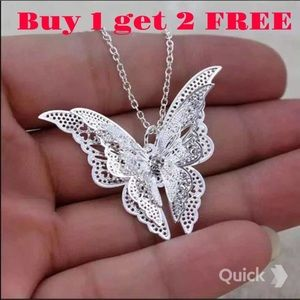 3d Butterfly Necklace Neck61